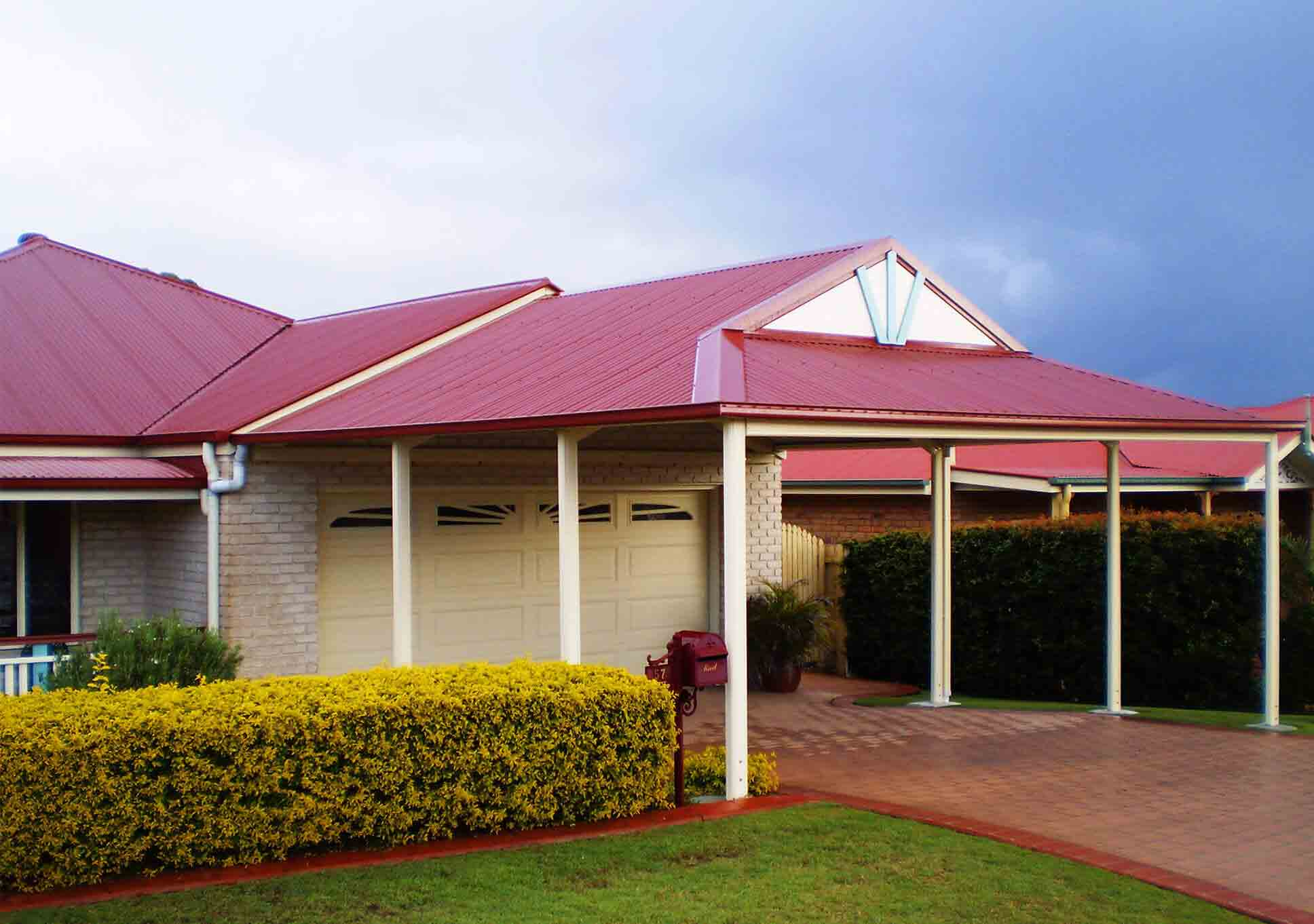 Favoured carport builders in brisbane and sunshine coast for Gable roof carport